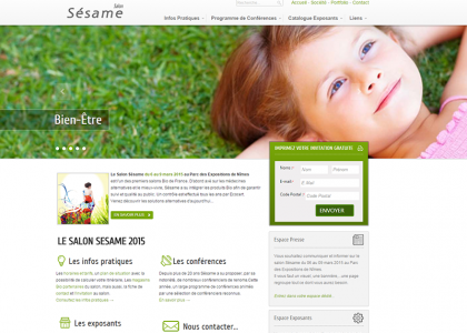 Site salon Sésame